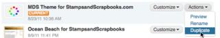 Duplicate Template Screenshot