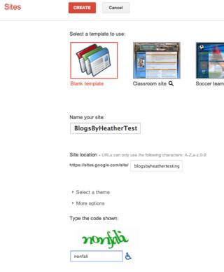 CreateGoogleSite