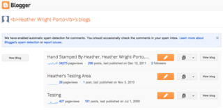 new blogger interface
