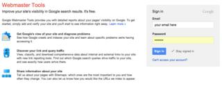Webmaster-GoogleAccount